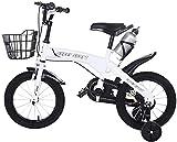 JZTOL Niños Bike Boys Girls Freestyle Bicycle 12 16 Pulgadas con Ruedas De Entrenamiento, Bicicleta para Niños Niña Bicicleta De Estilo Libre, Bicicleta para Niños Pequeños para Niños 3 4 5 6 7 Años