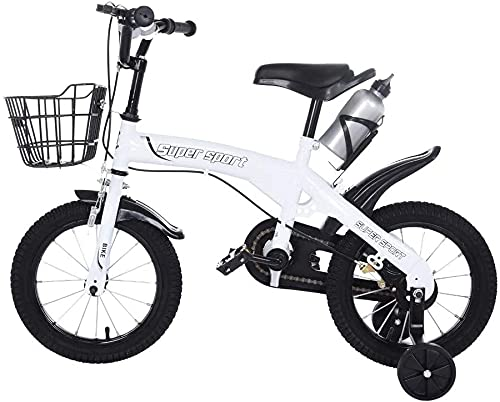 JZTOL Bambini Bike Boys Girls Freestyle Bicycle 12 16 Pollici con Ruote di Allenamento, Bicicletta per Bambini Ragazzino Girl Freestyle Bicicletta, Toddlers Bike per Bambini 3 4 5 6 7 Anni