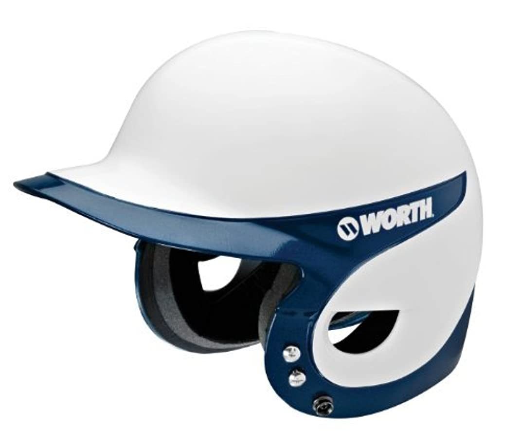 オリエンテーション交流するスキームWorth Youth Liberty WLBHJR Batting Helmet in White trimed (Navy ) [並行輸入品]