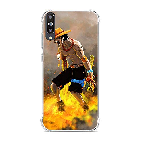 Be-better Case for Samsung Galaxy A70, One-Piece Anime-Luffy 8 Ultra Clear Coque Thin Soft TPU Rubber Anti-Slip Phone Cover