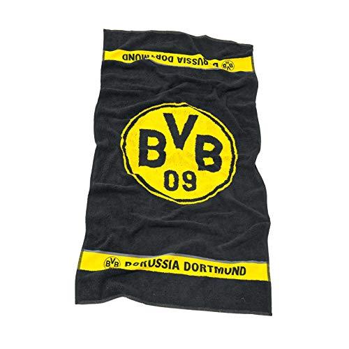 Borussia Dortmund Logo Handtuch Duschtuch Badetuch (Handtuch 50x100cm, schwarz)