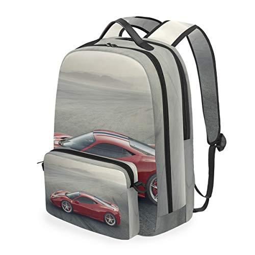 Multifunction Removable Sling Bag Laptop Backpack Travel rucksack Unisex Ferrari 458 Speciale Edizione Super Sportscar
