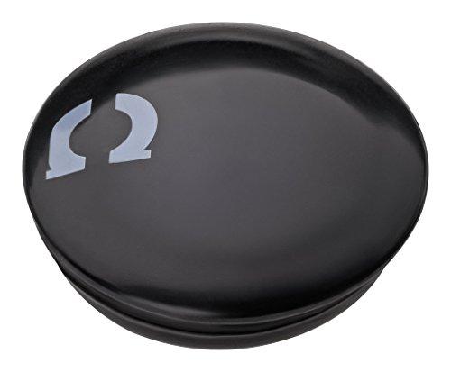 Haftpunkt Sistema magnético de fijación de números de Carrera (Set de 4/ Super Fuerte) - para Fijar y sostener el Dorsal de Carrera en (Medio de) maratones sin broches de Seguridad (Negro)