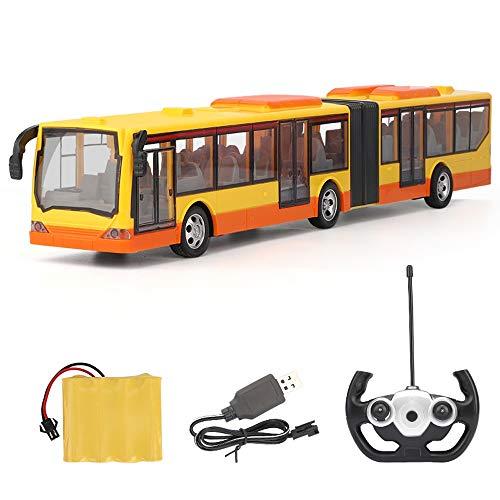 Tastak RC Bus Spielzeug Geschenk für Kinder Emote 2.4G Control Car Remote Control Bus City RC Car, Stadtbusmodell mit Fernbedienung Links und rechts Blinker (Color : Yellow)