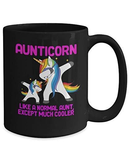 Taza de regalo de tía, escuadrón de tía, taza de tía, tía, tía unicornio, nuevo regalo de tía, la mejor tía de todos los tiempos