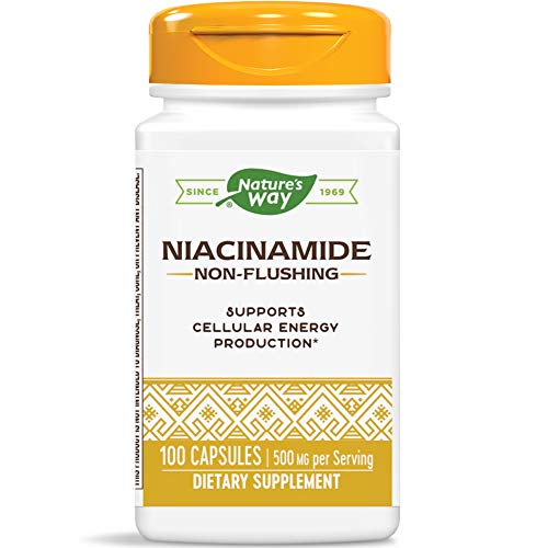 Natures WayWay, Niacinamide, 500 Mg, 100 Capsules