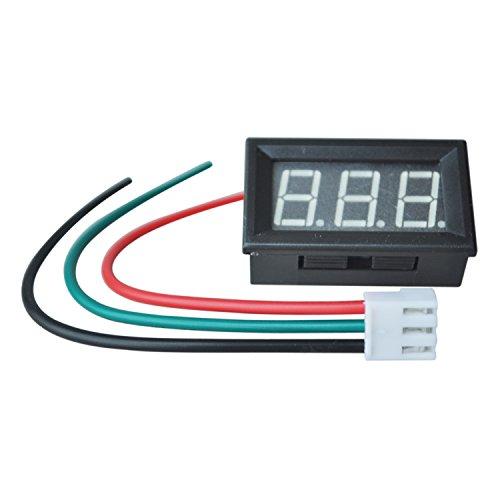 SODIAL(R) Digital LED Amperemeter AMP Panel Meter Strommesser Ammeter Blau Neu