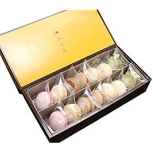 和菓子屋さんが作る至福のマカロン 浅井万十店の「和かろん」14個セット