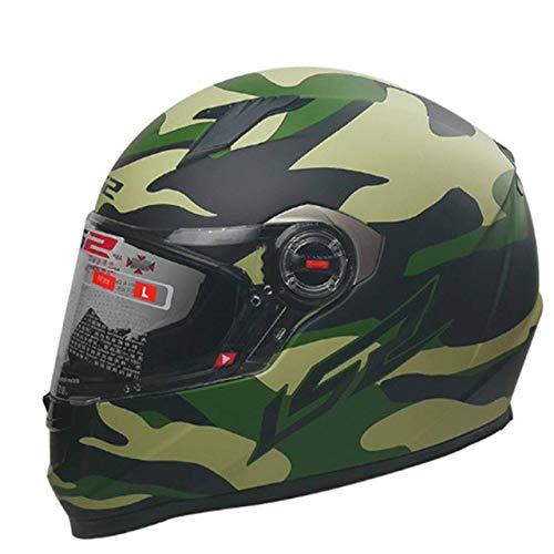 IAMZHL Vollgesicht Motorradhelm Frau Mann Capacete Mit abnehmbaren Innenpolstern Casco Moto Capacete de Motocicleta-29 Camouflage-2-XL