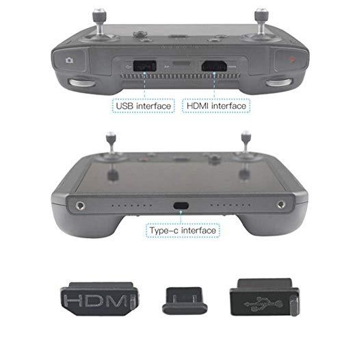 3pcs/Set Silicone Dustproof Plug HDMI/USB/Type-C Interface Dust Plug Cover for DJI Mavic 2 Smart...