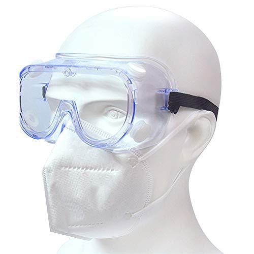KimcHisxXv Kimilike veiligheidsbril, volzichtbril, overbril, schuurbril voor brildragers, aanpasbare beugel, beslagvrij, krasbestendig multi