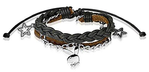 Playboy Bunny Charm Leather and Brass Bracelets