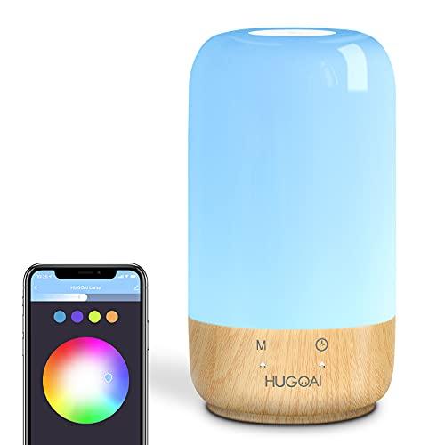 Smart Lamp, HUGOAI Table Lamp Works with Alexa and...