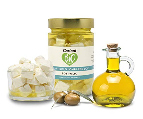 Carioni Food & Health Quartirolo Lombardo DOP sott'olio al Naturale, 170g