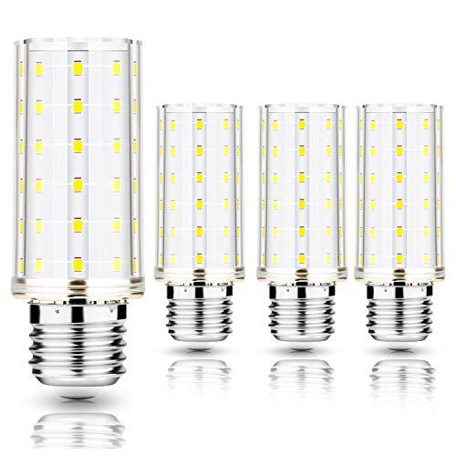 AGOTD E27 LED Glühbirnen Mais Lampe E27 LED Maiskolben Birnen Nicht Dimmbar Kleine Kerze Licht AC220-240V LED Leuchtmittel, 4er Pack (10W Kaltweiß)