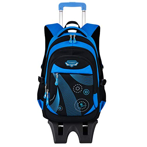 Fanspack Rolling Backpacks for Kids, School Bags with Wheels...