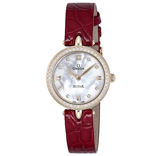 [OMEGA(オメガ)] 腕時計 デ・ウ゛ィル プレステージ デュードロップ 424.58.27.60.55.001 レディース レッド [並行輸入品]