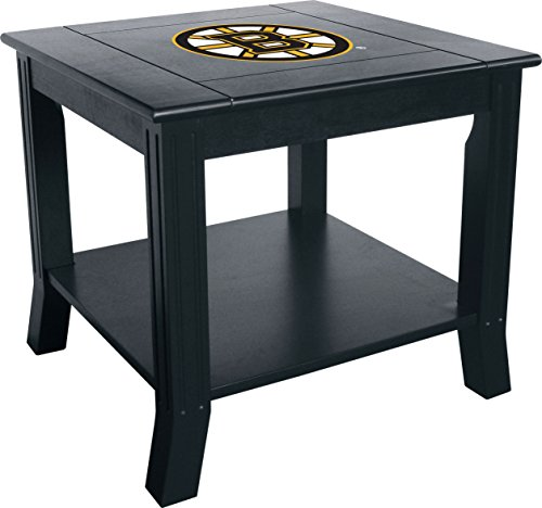 Imperial Officially Licensed NHL Furniture: Hardwood Side/End Table, Boston Bruins