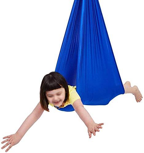 Abddle Hammock Terapia interior Swing para niños con necesidades especiales Asiento de sillón colgante Hamaca para interiores al aire libre, un efecto calmante en los niños con necesidades sensoriales