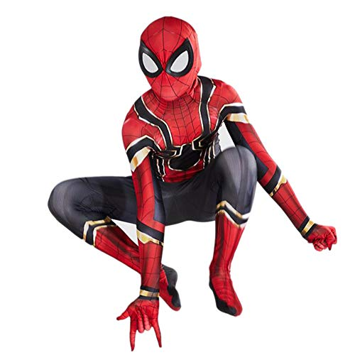 BEN Disfraz de Spiderman Adecuado 3-10 Niños,Miles Morales Far from Home Traje y Máscara de Spider-Man…
