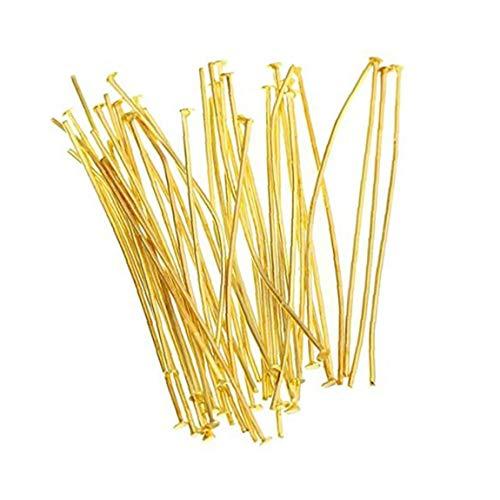 Golden Head Pins T Type Needles for Earrings Jewelry Making 100pcs Jewelry