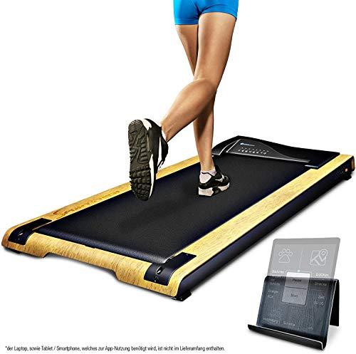 DESKFIT Laufband für Schreibtisch - fit & gesund im Büro & zu Hause |Bewegung & ergonomisches Arbeiten | Sehr leise & Easy verstaubar | Inkl. praktischer Tablet-Halterung, Fernbedienung + App |DFT200