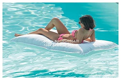 WanXingY Nuevo diseño Rectangular de Gran tamaño Impermeable Bolso de Frijol al Aire Libre teñido Oxford Tela de Tela al Aire Libre Creativo sofá Perezoso (Color : White, Tamaño : 140cmx180cm)