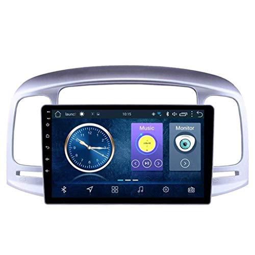 Android 8.1 Navegación Radio TV GPS pantalla táctil de 9 pulgadas para Hyundai Accent 2006 – 2011, con DAB CD DVD control de volante Bluetooth USB FM AM estéreo, 4G + WiFi: 2 + 32G