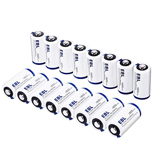 EBL CR123A 3V Lithium Batteries High Performance Non-Rechargeable Battery for Arlo Camera(VMC3030/VMK3200/VMS3330/3430/3530) Flashlight Security System [CAN NOT BE RECHARGED], 16 Pack