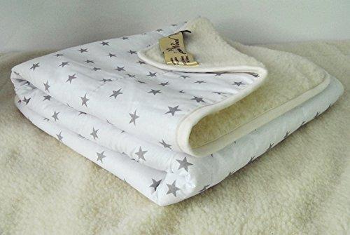 Merino Wolle Kinder Bettdecke Schurwolle Übergang Kinder Decke perfekt für Geschenk (100 x 140 cm, White)