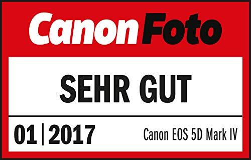 Canon EOS 5D Mark IV SLR-Digitalkamera (30,4 MP, 8,1cm Touchscreen-LCD, DIGIC 6+, Dual Pixel RAW, 4K Video, WLAN, NFC, GPS) Gehäuse, schwarz