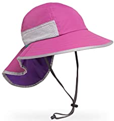 "2.5"" - 4"" down sloping brim with floatable foam core (brim length depends on size) Full 5.5"" neck veil for protecting back of neck UPF 50+ certified sun rating (mesh vents not rated) Strategic mesh ventilation on Child and Youth sizes Water repellent..."