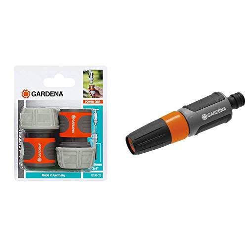 Gardena 18282-26 - Conectores rápidos + Pistola de limpieza