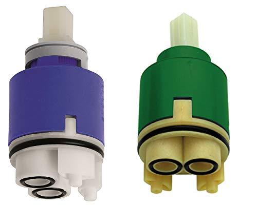 Cartuccia ceramica miscelatore 35 mm con diffusore EMMEVI REMER blu verde