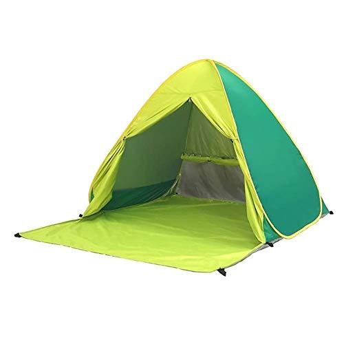 Voniry Automatisches tragbares Pop-Up-Strandzelt gut belüftet Outdoor Anti-UV-Sonnenschutz mit Reißverschluss Tür für Kinder und Familie im Strand, Garten, Camping, Angeln, Picknick, Wandern