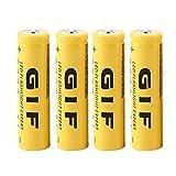 4pcs écologique 3.7v 18650 9800mAh capacité batterie rechargeable li-ion pour lampe de poche torche LED lampe de poche expert - jaune