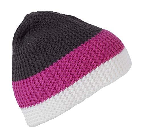 K-up Bonnet 3 Bandes - Off White/Magenta/Shale Grey, One Size