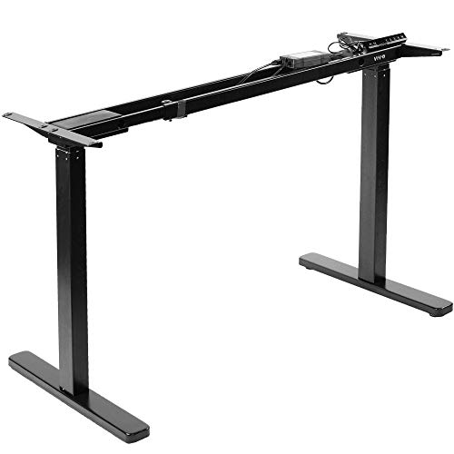 VIVO Electric Dual Motor Standing Desk Frame for 46 to 87 inch Table Tops (Frame Only) / Ergonomic Standing Height Adjustable Base with Push Button Controller, Black (DESK-V122EB)