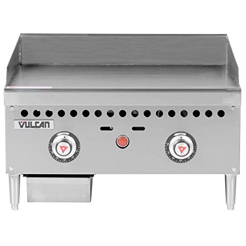 """TableTop King VCRG24-T1 Natural Gas 24"""" Countertop Griddle with Snap-Action Thermostatic Controls - 50,000 BTU"""