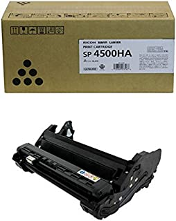 Ricoh 407316 High Yield Print Cartridge and 407324 Photoconductor Unit for SP 4510DN, 4510SF