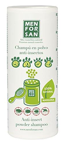 MENFORSAN Champú en polvo con Repelente de Insectos Perros,