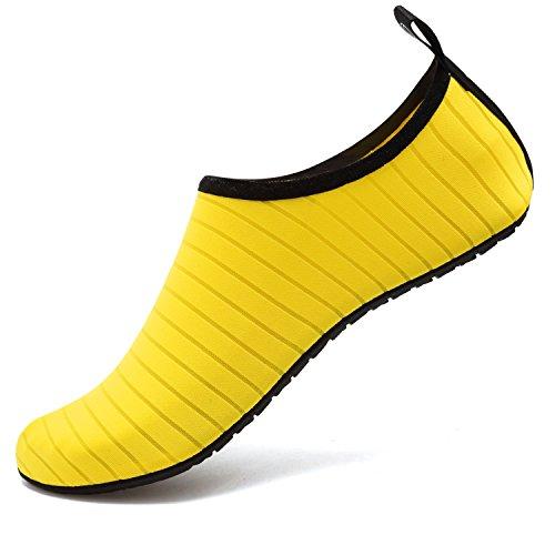 VIFUUR Water Sports Unisex Shoes Yellow - 9-10 W US / 7.5-8.5 M US (40-41)