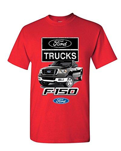 Ford Pickup Trucks F-150 T-Shirt Offroad Country Built Tough 4X4 Mens Tee Shirt Red XL