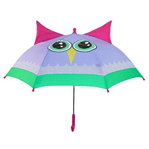 ShedRain Kids Rain Essentials Owl Character Stick Umbrella, Beatrice Owl