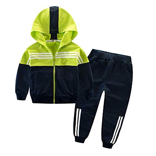 Unisex Kinder Jungen Mädchen Sportkleidung Sets Sport-Oberteile Sport-Hose Kontrastfarbe Baummwolle Hosen mit Shirt Sets