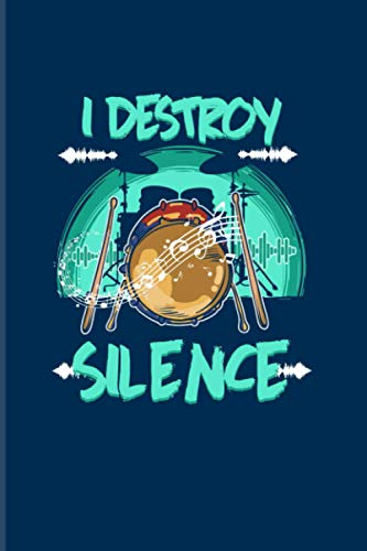 I Destroy Silence: 2021 Planner | Weekly & Monthly Pocket Calendar | 6x9 Softcover Organizer | Percussion & Funny Music Gift