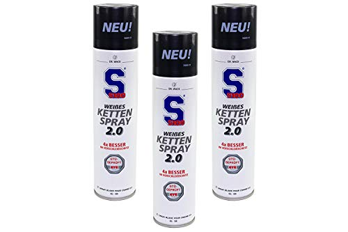 4006539723508 S100 Lot de 3 sprays de chaîne Blanc 400 ml