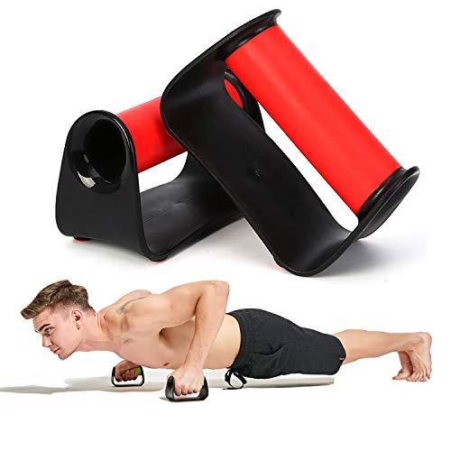 Push up Bars, Flexiones Ejercicios Manijas, Soporte para Flexiones, Skid-Resistant, Gimnasio en casa Ejercicio Rutina de Ejercicio Formación (Red)