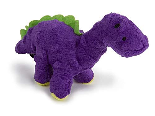 goDog nur für ME BRUTO Dino mit Kauschutz-Technologie Tough Plüsch Hundespielzeug, Violett