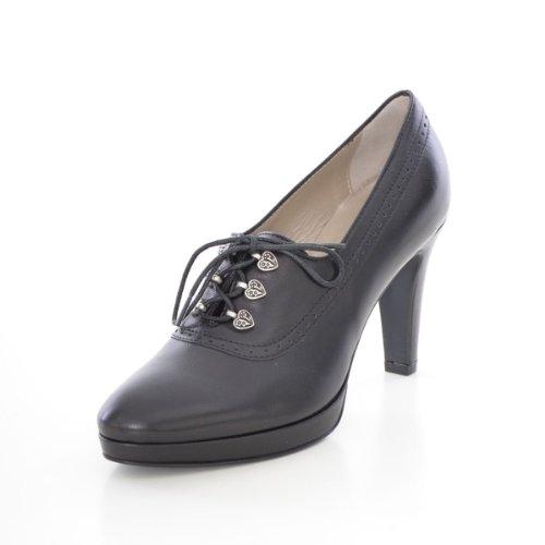 dirndl + bua Damen Dirndl-Schuhe Traumhafte Pumps in Schwarz Trachten-Schuhe, Schuhgröße:40.5 EU, Farbe:Schwarz